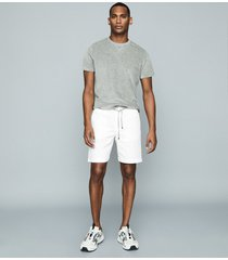 reiss wenlock - drawcord shorts in white, mens, size xxl