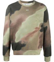 off-white arrows camouflage print sweatshirt - green
