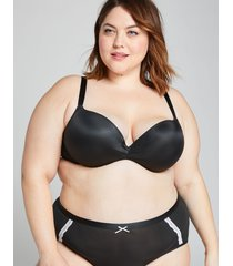 lane bryant women's max boost plunge bra 44ddd black