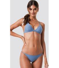 na-kd swimwear bikinitrosor med tunna band - blue
