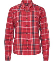 kikut w shirt overhemd met lange mouwen rood bergans
