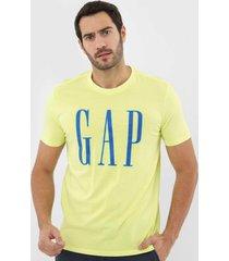 camiseta gap neon logo verde