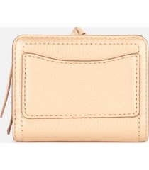 marc jacobs women's mini compact wallet - gold