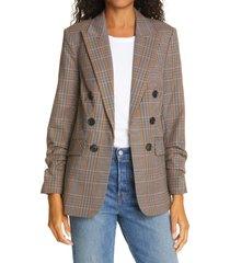 women's veronica beard beacon dickey jacket, size 2 - brown