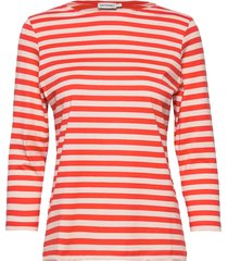 ilma shirt t-shirts & tops long-sleeved oranje marimekko