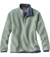 outdoor quilted snap sweatshirt, eucalyptus, xx large