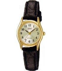 reloj analógico mujer casio ltp-1094q7b2 - negro con perlado