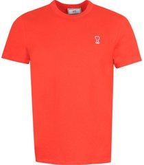 ami alexandre mattiussi logo print cotton t-shirt