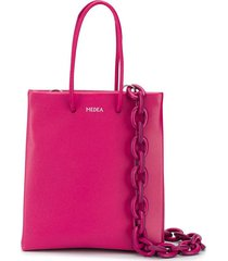 medea chunky chain tote - pink