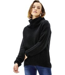 sweater cuello alto ii mujer negro corona