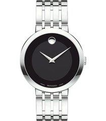 reloj  movado 607057 plateado acero inoxidable