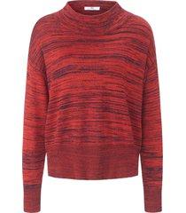 trui van 100% katoen met opstaande halsboord van peter hahn rood
