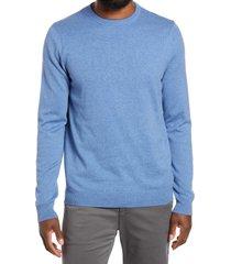 men's nordstrom cotton & cashmere crewneck sweater, size 2xl - blue