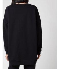 ganni women's software isoli oversized sweatshirt - black - l/xl