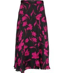floral asymmetrical skirt knälång kjol svart banana republic