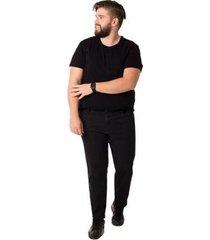 calça jeans denuncia skinny plus size masculina - masculino
