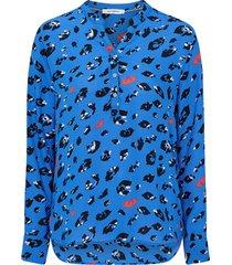 blus coco wild animal shirt