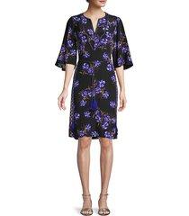 kobi halperin women's daniella floral crepe dress - black multi - size xs