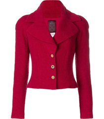 john galliano pre-owned wide lapels jacket - red