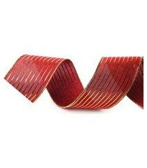 fita de natal listras 6,3 cm c/ 9,14m vermelha