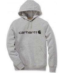 carhartt trui men delmont graphic hooded sweatshirt asphalt heather-s