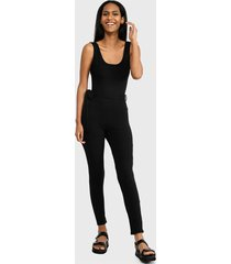 enterito missguided scoop neck unitard jumpsuit jumpsuits  negro - calce ajustado
