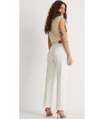 levi's ankellånga raka jeans med hög midja - white