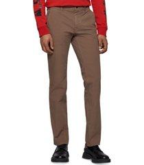 boss men's slim-fit stretch cotton trousers