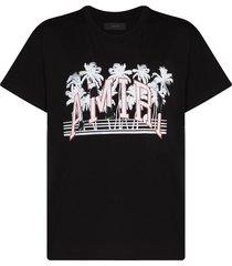 amiri varsitiy logo short-sleeve t-shirt - black