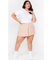 womens little roomy plus relaxed shorts - stone