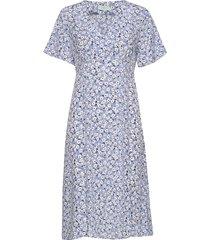 livier printed dress knälång klänning blå morris lady