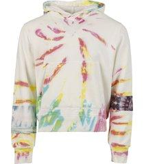 tie dye art patch hoodie