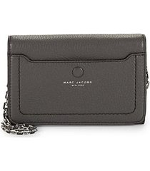 leather wallet on chain