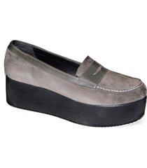 mocasín gris tamara shoes