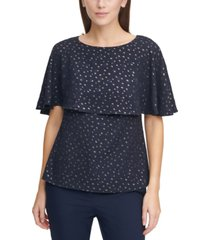dkny patterned cape top