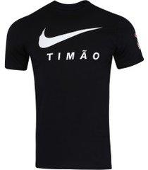 camiseta do corinthians 2019 nike - masculina - preto