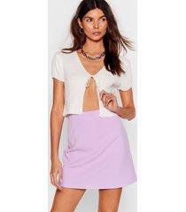 womens we short as much high-waisted mini skirt - lilac