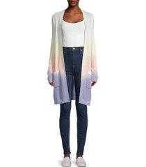 design 365 women's ombré long cardigan - size m