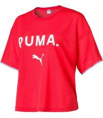 chase mesh t-shirt voor dames, maat l | puma
