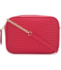 furla swing quilted crossbody bag - red