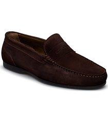 byron suede loafers låga skor brun sebago