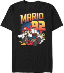 nintendo men's mario kart racer number 92 short sleeve t-shirt