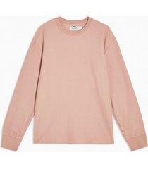 mens pink twill sweatshirt