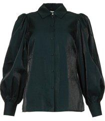 blouse met pofmouwen mauri  groen