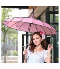 1-2 pessoas guarda-chuva wandproof 16 osso pára-sol para viagens de acampamento