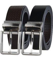 calvin klein men's micro logo strap reversible casual belt