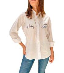 camisa en algodón somos arte - la marquesa