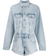 alexander wang denim playsuit - blue