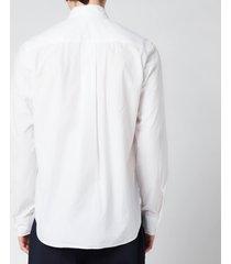 kenzo men's tiger crest poplin shirt - white - 44/18