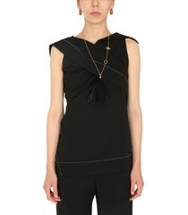 jil sander top with straight neck and draping